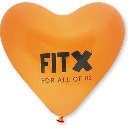 Hart ballonnen kleine afname oranje