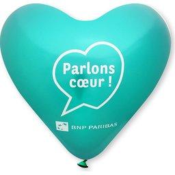 Hart ballonnen turquoise