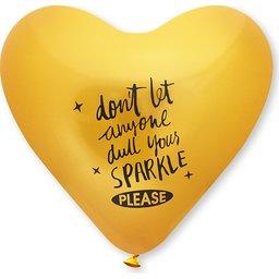 Hartballonnen bedrukken geel