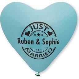 Hartballonnen huwelijk bedrukken