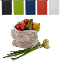 Herbruikbaar Groente & Fruit zakje Oeko-Tex Katoen 30 x 40 cm