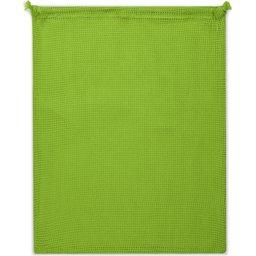 Herbruikbaar Groente & Fruit Zakje Oeko-Tex® Katoen 40 x 45cm-groen zijde 2