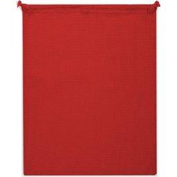Herbruikbaar Groente & Fruit Zakje Oeko-Tex® Katoen 40 x 45cm-rood zijde 2