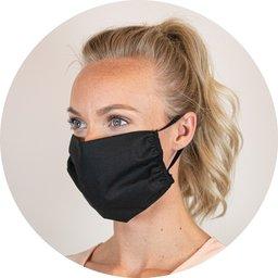 Herbruikbaar mondmasker uit katoen met ruimte voor filter bedrukken