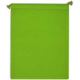 Herbruikbare Groente & Fruit Zakje Oeko-Tex® Katoen 25 x 30 cm-lichtgroen zijde 2