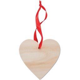 Houten hanger in hartvorm