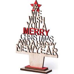 Houten kerstboompje bedrukken