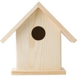 Houten vogelhuisje met verf set 2