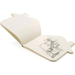Huisvormig notitieboekje bedrukken