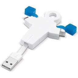 human kabel blauw
