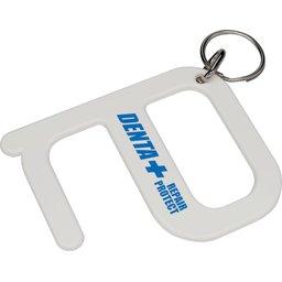 Hygiëne sleutelhanger - zonder handen tool bedrukken