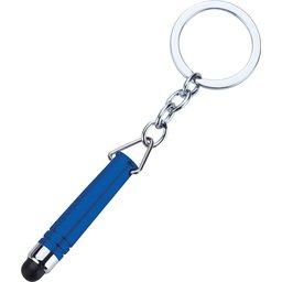 Hygiënisch touchscreen sleutelhanger blauw