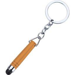 Hygiënisch touchscreen sleutelhanger oranje