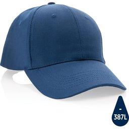 Impact 6 panel 280gr gerecycled katoenen cap met AWARE™ trac-donkerblauw