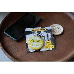 Keep Safe Button met communicatie kaartje bedrukt