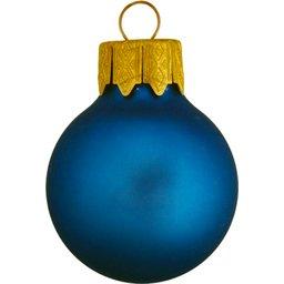 Kerstbal blauw bedrukken