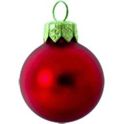 Kerstbal donker rood bedrukken