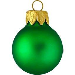 Kerstbal groen bedrukken