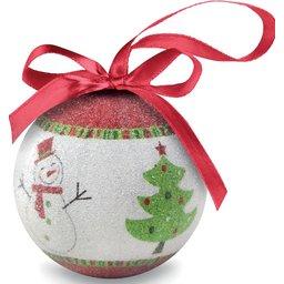 Kerstbal in geschenkverpakking bedrukken