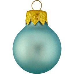 Kerstbal lichtblauw bedrukken