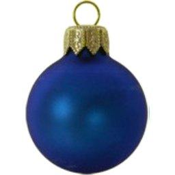 Kerstbal navy bedrukken