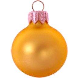 Kerstbal oranje bedrukken
