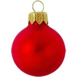 Kerstbal rood bedrukken