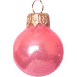 Kerstbal roze bedrukken