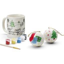 Kerstballen om te verven bedrukken