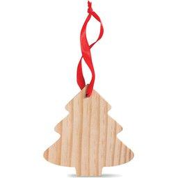 Kerstboomvormige houten hanger