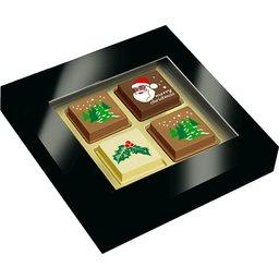 Kerstchocolade met bedrukking
