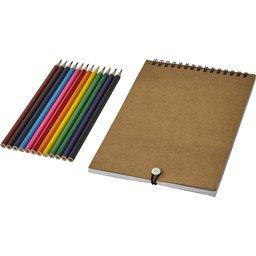 Kleurenset met papier bedrukken