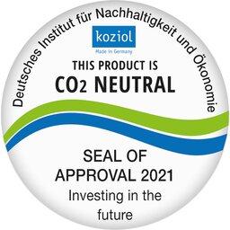Koziol Siegel_fuer_Nachhaltigkeit_2021_CO2_neutral_mit_Logo_EN (1)