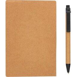 Kraft notitieboekje A6 met pen-achterzijde