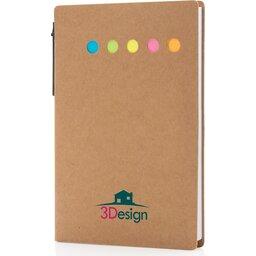 Kraft notitieboekje A6 met pen-gepersonaliseerd