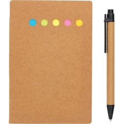 Kraft notitieboekje A6 met pen-recht