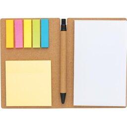 Kraft notitieboekje A6 met pen-recht open