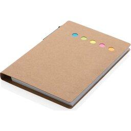 Kraft notitieboekje A6 met pen-schuin