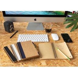 Kraft spiraal notitieboekje met pen-sfeerbeeld