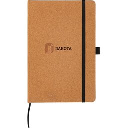 Kurken hardcover notitieboek A5-gepersonaliseerd