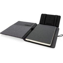 Kyoto notitieboek met 5W draadloze 4.000 mAh powerbank -open