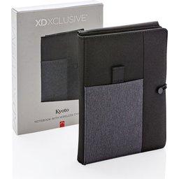 Kyoto notitieboek met 5W draadloze 4.000 mAh powerbank -verpakt