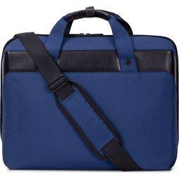 "Laptoptas 15,6"" R-PET-blauw zijde2"