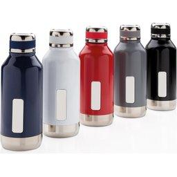 Lekvrije isolatie fles met logo plaatje 500 ml