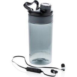 Lekvrije sportfles met draadloze koptelefoon bedrukken