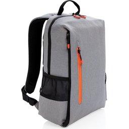 """Lima 15"""" PVC vrije laptop rugzak met RFID & USB-oranje"""