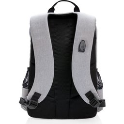 "Lima 15"" PVC vrije laptop rugzak met RFID & USB-oranje achterzijde"
