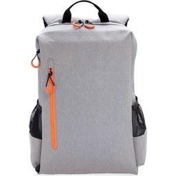 "Lima 15"" PVC vrije laptop rugzak met RFID & USB-oranje voorzijde"