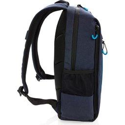 "Lima 15"" PVC vrije laptop rugzak met RFID & USB-zijkant"