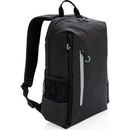 "Lima 15"" PVC vrije laptop rugzak met RFID & USB-zwart"